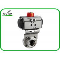 China Aluminium Actuator Pneumatic Butterfly Valve , Male / Female Threaded Butterfly Valves wholesale