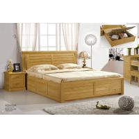 China Modern beech Wooden bed home furniture wholesale
