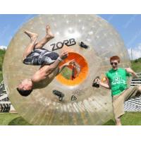 China Rent Outdoor Inflatable Zorb Ball , Exciting giant hamster ball for people wholesale