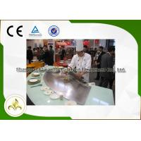 China Beef Mutton Gas Teppanyaki Grill , Commercial Griddle Plates For Gas BBQ wholesale