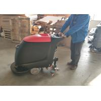 China Portable Walk Behind Concrete Floor Scrubber With 45L Recovery Tank No Residue wholesale