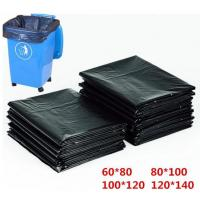 China HDPE Material Flat Recyclable Garbage Bags Embossed Surface Black Colour wholesale