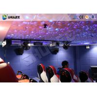 Quality Entertainment Park 12D Cinema XD Theatre With 3 DOF Electric Chairs 180KG for sale