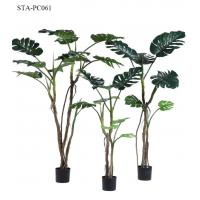 China Small Size Artificial Decorative Trees Split Philodendron Monstera Tree In Green Color wholesale