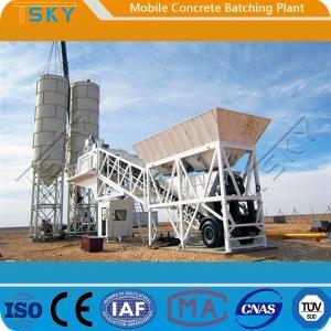 China ISO HZS100 100m³/H Portable Concrete Batch Plant wholesale