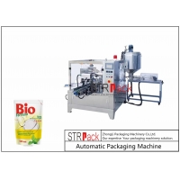 China Automatic Doypack Packaging Machine With Liquid Filling Machine For honey oil ketchup paste sauce  juice laundry liquid wholesale