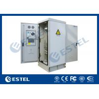 China Temperature Control 41U Outdoor Rack Cabinet Double Door Anti Corrosion Powder Coated on sale