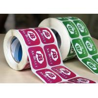 China Durable Glossy Sticker Labels / Warning Label Rolled With Custom Logo wholesale