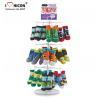 China Footwear Shop Metal Display Racks , Rotating Table Top Sock Display Rack wholesale