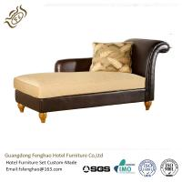 China Wooden Frame Leather Indoor Chaise Lounge Chair For Hotel Bedroom wholesale