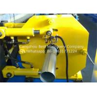 China Hydraulic Gutter Roll Forming Machine , Steel Rain Down Pipe Making Machine wholesale