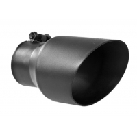 China Round Black Coated 3 Inch Exhaust Tip For Auto Tail Pipe wholesale
