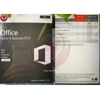 China OEM Software Microsoft Office Home And Business 2016 For Mac DVD + Key License wholesale