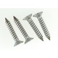China AISI 316 Stainless Steel Cross Recessed Flat Head Screw Self Tapping 6 X 35mm wholesale
