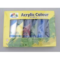 Buy cheap 6 X 75ml Acrylic Paint Tubes Acrylic Paint Starter Colors Set For Wood / Paper / Glass from wholesalers