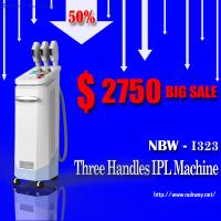 China Top Sale!50% discounts off 3 handles multifunctional IPL salon use beauty machine for sale wholesale