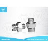 China ORFS Male O RING And BSP Male ED Seal Hydraulic Adapters By Carbon Steel on sale