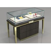 China Custom Jewelry Display Cases With Sliding door / Pull Out Door wholesale