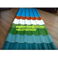 China 900-1130mm UPVC high strength corrugated round wave roof tile/sheet production line wholesale