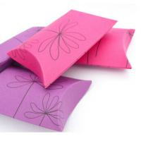Pillow Paper Card Chocolate Packing For Gift Packaging Cartons Hot Foil Stamping