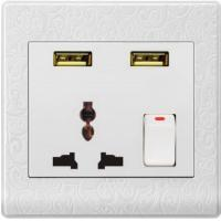 China USUN-Manufacturer electrical plugs and sockets usb wall socket  automatic switch save your energy on sale