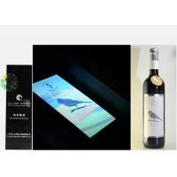 China Silver Foil Embossed Wine Label Stickers , Custom Wine Bottle Labels For Security Mark wholesale