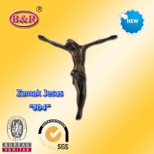 China Zamak Jesus size 10.2*11.2cm zinc alloy cross part for crucifix , No  J05 on sale