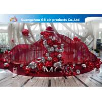 China Red And Silver Inflatable Air Mirror Ball Airtight Customize Size wholesale