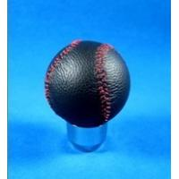 China Novelty Red Line + Black Real Leather Front Racing Gear Knob Ball Shape wholesale