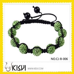 China Fashion Crystal Paved Shamballa Bracelet wholesale