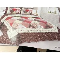 China Imitated Patchwork Home Bed Quilts Brown Color Widely In Home Bedding wholesale