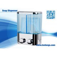 China Chromed Plated Liquid Hand Soap Dispenser Double Tank 500ml wholesale