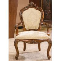 China Antique Wooden Modern Upholstery Fabric Dining Room Arm Chairs for Restaurant wholesale