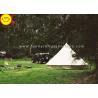 China EN1790 100% Cotton Canvas Luxury Bell Tent 5m Zipperd Door For Camping wholesale