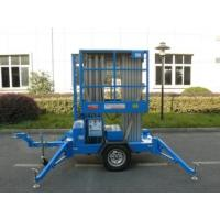 China Trailer Mounted Lift For Wall Cleaning , 10m Dual Mast Hydraulic Work Platform wholesale