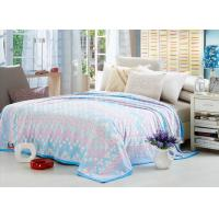 China Comfortable Polyester Solid Flannel Blanket 3D Printed Super Soft For Bed 220*240 wholesale