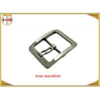 China Silver Plated Zinc Alloy Pin Metal Belt Buckle For Men / coat Belt Buckle Replacement wholesale