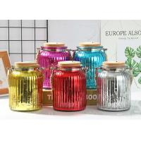 China Wedding Decoration Empty Glass Containers Candle Holder Transparent Small Size wholesale