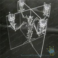 China CH (21) Acrylic Christmas hurricane candle holder wholesale