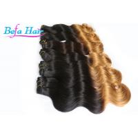 China Extra Long 36 Inch 7A Ombre Remy Hair Extensions Black To Grey For Ladies wholesale