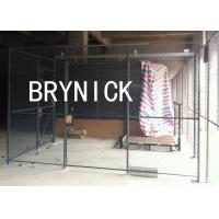 China 10 GA Steel Wire Mesh Security Partitions 3 Sided 20*10' *8' Without Roof wholesale