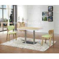 China Ss Leg Square Restaurant Tables And Chairs , Hotel And Restaurant Furniture wholesale