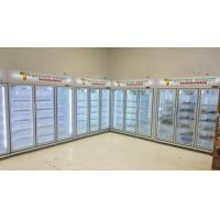 China -18 ~ 22℃ Commercial Upright Glass Door Freezer For Meat Chicken / Ice Cream wholesale