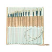 China Natural Color Bamboo Brush Holder Useful Tools , Artist Brush Roll Case 41.5 * 56cm wholesale