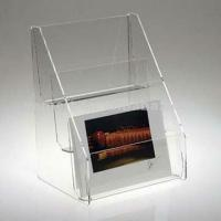 China Counter Top Public Clear 3mm Acrylic Display Holders for Leaflet Poster wholesale