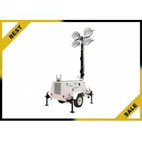 China Diesel Powered Mobile Light Tower Length 4360mm 320° Mast Rotation  Powder Coated Canopy wholesale