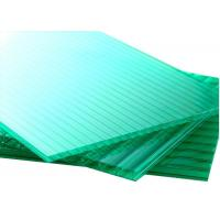 China 6mm green Twin Wall Polycarbonate Hollow Sheet Plastic Roofing Panels Platform on sale