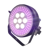 Buy cheap 7*10W RGBW 4in1 108pcs RGB 5050SMD LEDS Flat Par Light Dmx In And Out from wholesalers