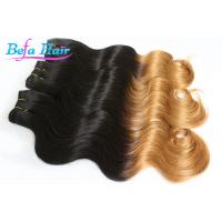 China Brazilian Soft 25 inch Two Color Ombre Remy Hair Extensions Body Wave wholesale