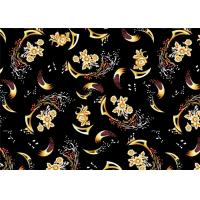 China Decorator Printed Micro Velvet Weave Fabric Thick Shrink-Resistant wholesale